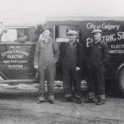 1920 City of Calgary Electric System crew
