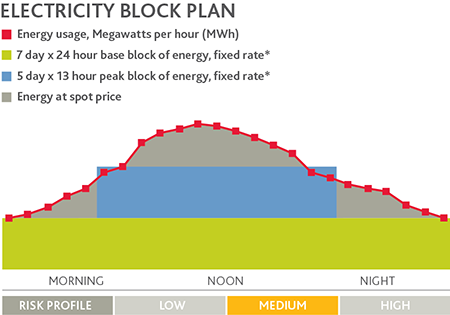Electricity usage blocks