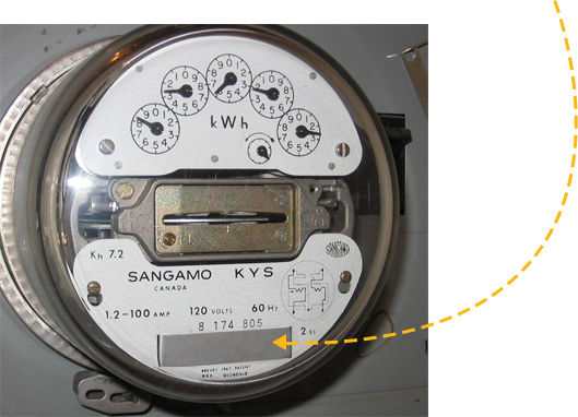 Electric Meter Number : How to find your electric meter number