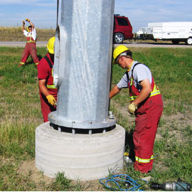 Installing a pole